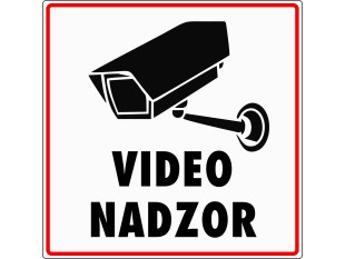 NALEPKA VIDEO NADZOR
