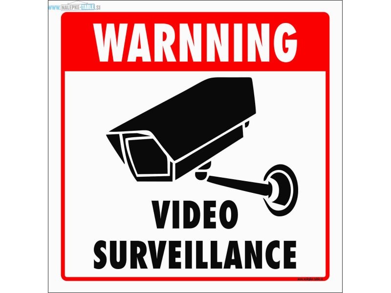 Warnning video surveillance